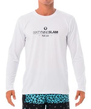 【20SS 新作】【69SLAM】水陸両用 ロックスラム メンズ ラッシュ 69 TEXTO 長袖Tシャツ UVカット / MTVXTO-WH