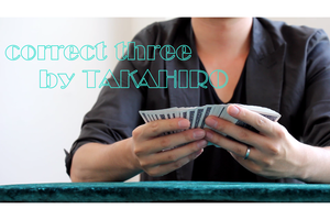 correct three  by TAKAHIRO(クレカ決済以外対応)