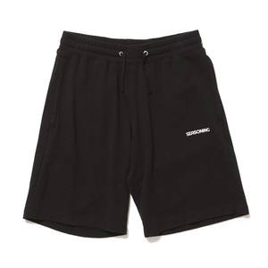 SEASONING LOGO LIGHT SWEAT PANTS  - BLACK