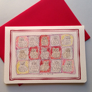 グリーティングカード・封筒セット【レッドクロス】モモMサトウgc003