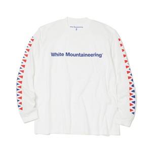 LOGO PRINTED LONG SLEEVES T-SHIRT -WHITE