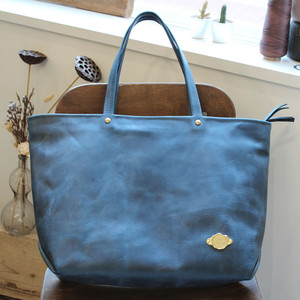 Zip Tote Bag / SEA BLUE