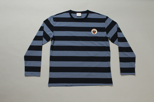 PIRATES PATCH BORDER L/S TEE   -BLUxNVY-