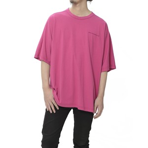 LOGO EMBROIDERED BIG T-SHIRT - PINK