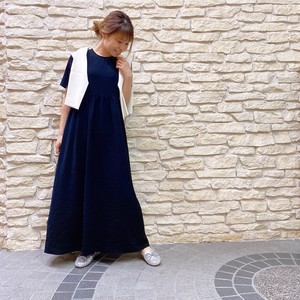 BED&BREAKFAST(ベッドアンドブレックファースト) Dry Stretch Georgette Gather Dress 2021秋物新作 [送料無料]