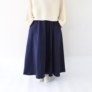 ロングフレアスカート / ネイビー