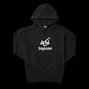 Sapsan・logo Black hoodie Parker type2 4size