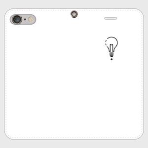 【8Plus,7Plus】ロゴiPhoneケース手帳型白