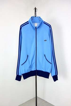 "80's ""adidas "" Design pocket zip up  jersey track jacket"