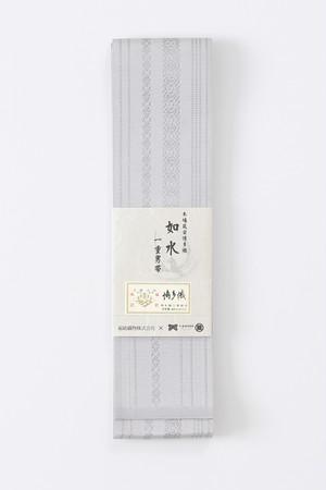博多角帯 / 如水 / 献上 / Grey(With tailoring)