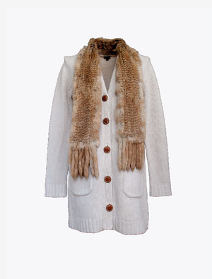 JOSEPH CARDIGAN WITH FUR