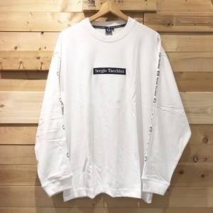 【1点までゆうパケット送料無料】Sergio Tacchini セルジオタッキーニ 長袖Tシャツ ボックスロゴ 刺繍