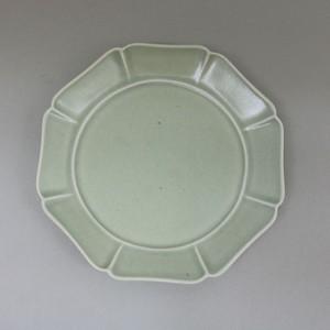 中尾青磁 八方パン皿