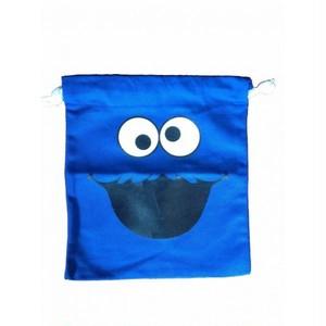 クッキーモンスター Cookie Monster 顔/フェイス プリント ポーチ・巾着袋
