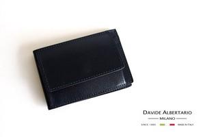 ダヴィデ アルベルタリオ |DAVIDE ALBERTARIO|グレインレザースマートウォレット|ネイビー