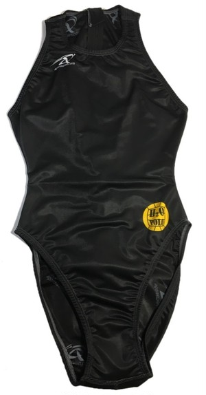 【2,000円OFF】agonswim レディース水球水着 H2O POLO BLACK