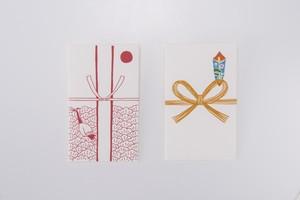 手すき紙のポチ袋 2枚セット