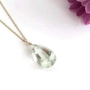K10YG Green Amethyst necklace