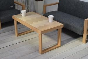 Herringbone Low Table -NA / 西海岸リゾートスタイル ヘンリボーン ローテーブル / ナチュラル