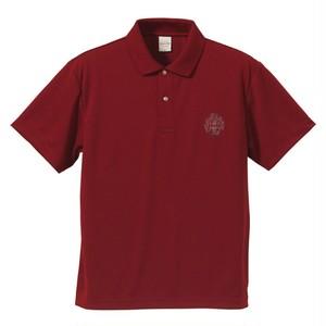 ロゴ刺繍ポロシャツ (burgundy)