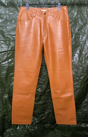 1990s ROMEO GIGLI LEATHER TROUSERS