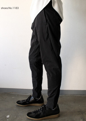 Stretch Tapered Zip Pants Black