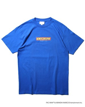 """× """"PAC-MAN"""" GAME OVER CR S/S T-SHIRT / BLUE"""