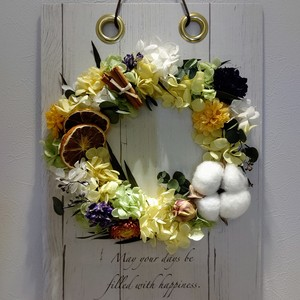 canvas wreath *yellow