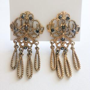 gold filigree earring[e-1363] ヴィンテージイヤリング