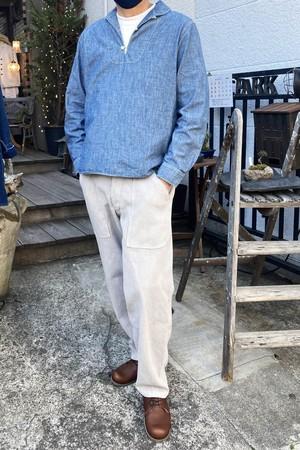 GodeM sashiko kakisibuzome  field pants Limited SALE 刺し子柿渋染め スエーデンフィールドパンツ 限定販売