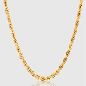18kpg Diamond Cut Rope Chain 【5mm/GOLD】