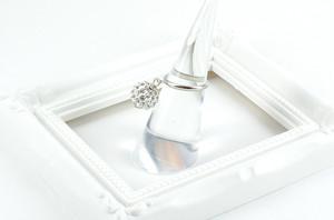 ラインストーンパヴェボール ピンキーリング クリスタル pve-ringcrystal1 指輪 パヴェ