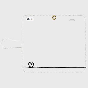 【送料無料】iPhoneSE 手帳型スマホケース ハート