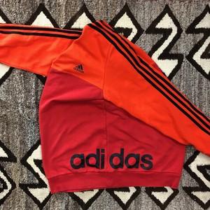 アディダス サイド ビッグロゴ スペシャル スウェット adidas 赤×オレンジ ツートン仕様 トルコ製