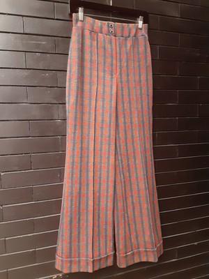 Polyester center press wide pants ポリエステルセンタープレスワイドパンツ