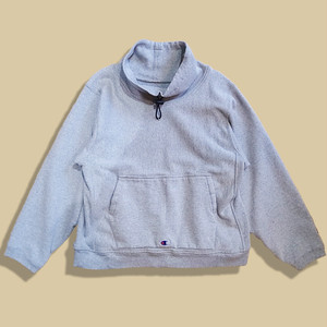 WCH Remake Mock Turtle Pullover Sweat Shirts -Gray /S-b