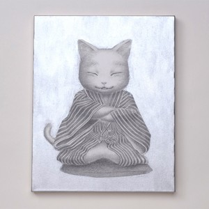 村上 萌「仙台四郎猫(しろねこ)」
