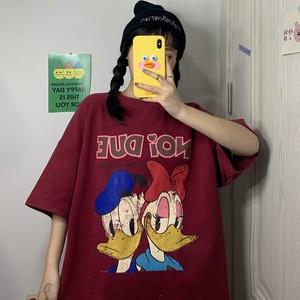 【トップス】原宿風韓国系カートゥーンプリント半袖Tシャツ27288298