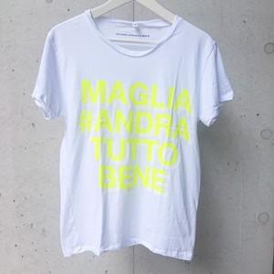 MAGLIA(マリア)チャリティTシャツ #ANDRA TUTTO BENE YELLOW ATB-01
