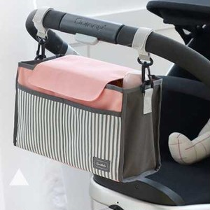【ピンク】便利♪ ベビーカー用 多機能小物入れ 収納 H71