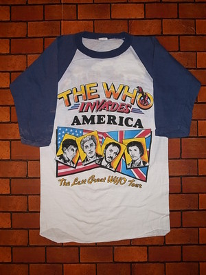 THE WHO 1982 LAST TOUR T-SHIRTS