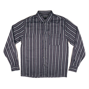 "PASS~PORT ""WORKERS STRIPES"" L/S SHIRT NAVY"