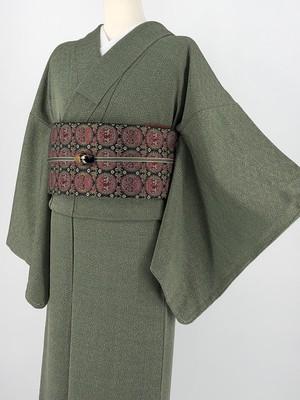 小紋 袷着物 着物 きもの カジュアル着物 仕立て上がり 送料無料 リサイクル着物 中古 身丈164cm 裄丈62.5cm