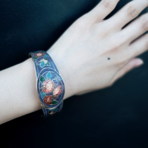 【used】vintage bangle flower butterfly
