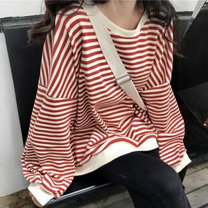 【トップス】カジュアルボーダープルTシャツ23849358