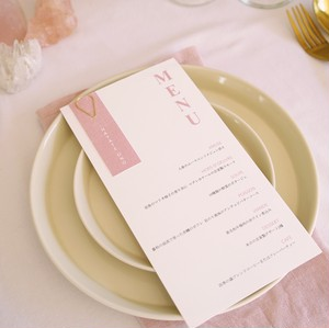 Emma - Menu + Name tag(pink) 〈メニュー表+席札〉