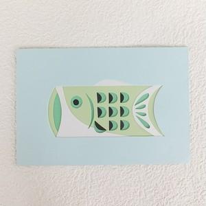 【彫紙アート】鯉のぼり