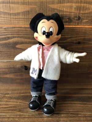 """Vintage Mickey Mouse''SOCK HOP"""" Plush Doll /ミッキーマウス ぬいぐるみ 80年代 ビンテージ"""