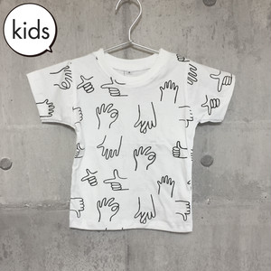 【送料無料】 Hands Kids T-shirts S 手 総柄 キッズ Tシャツ S