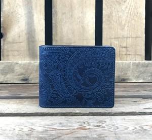 Paisley Indigo Basic Wallet